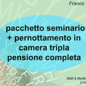 Franco Marmello risveglio della memoria creativa coupon seminario + pernottamento camera tripla con pensione completa
