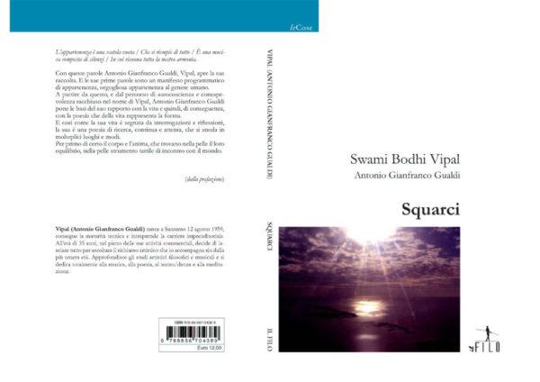 Fronte e retro copertina squarci libro di poesie di ricerca di Vipal Antonio Gianfranco Gualdi