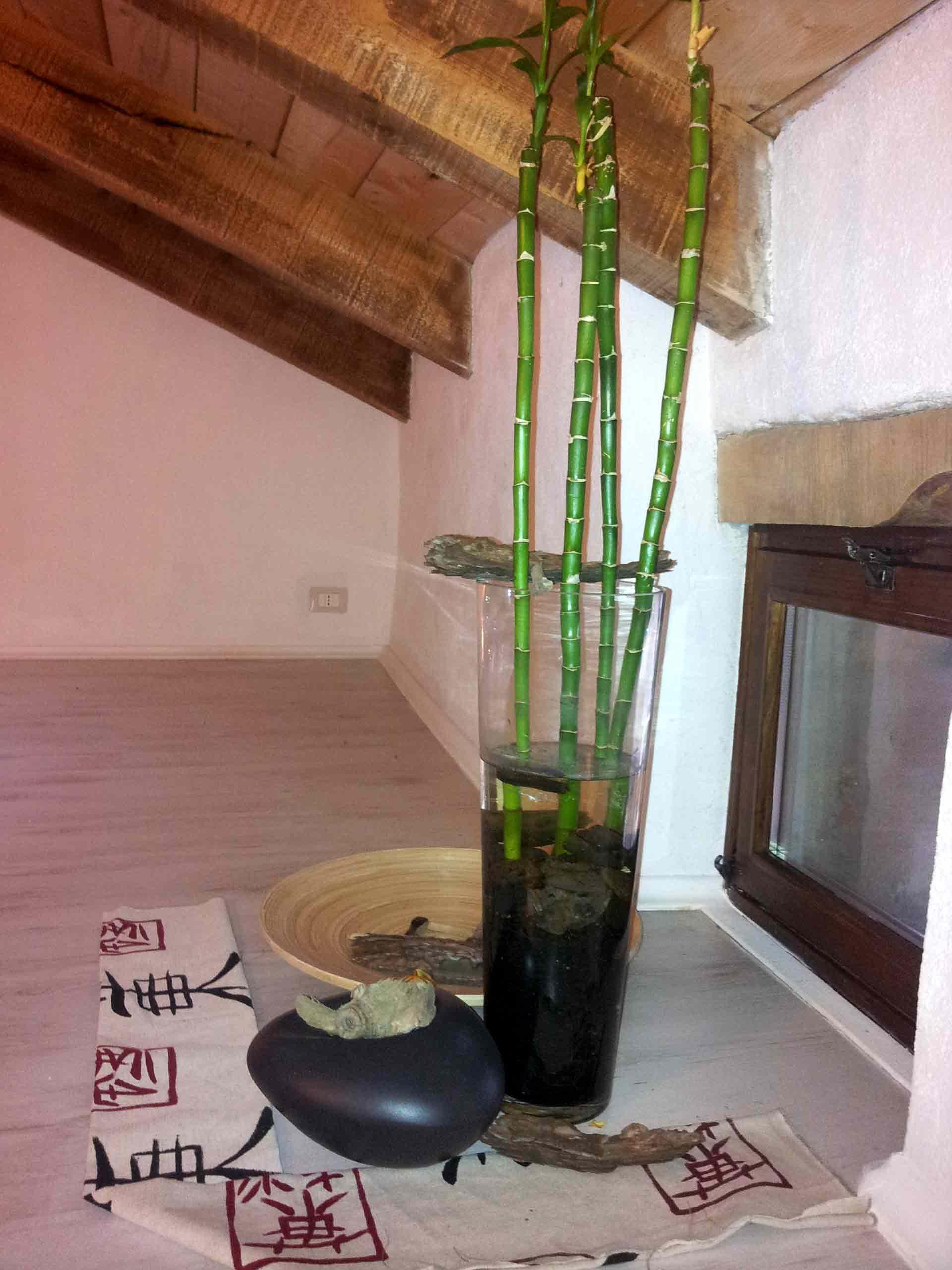 Camera zen composizione bambu B&B & meditation center Zorba il Buddha Passerano Marmorito Asti