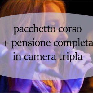 Coupon corso intensivo di canto Giovanni Grimaldi corso +pensione completa in camera tripla