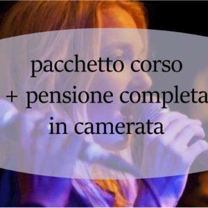Coupon corso intensivo di canto Giovanni Grimaldi corso +pensione completa in camerata