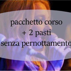 Coupon corso intensivo di canto Giovanni Grimaldi corso + 2 pasti