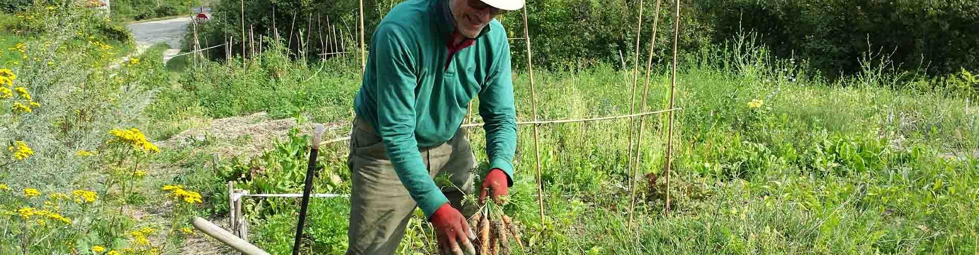 Lavori in campo e semine orto condiviso Zorba il Buddha Passerano Marmorito Asti