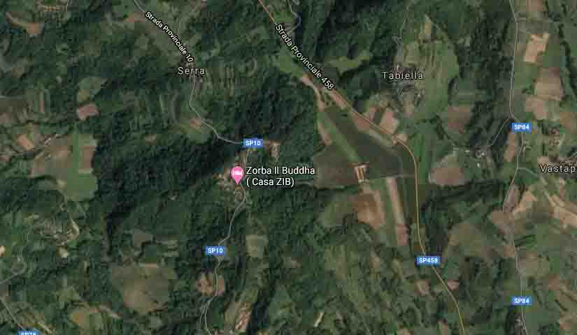 Dove siamo mappa satellitare B&B & Meditation Center Zorba Il Buddha Passerano Marmorito AT