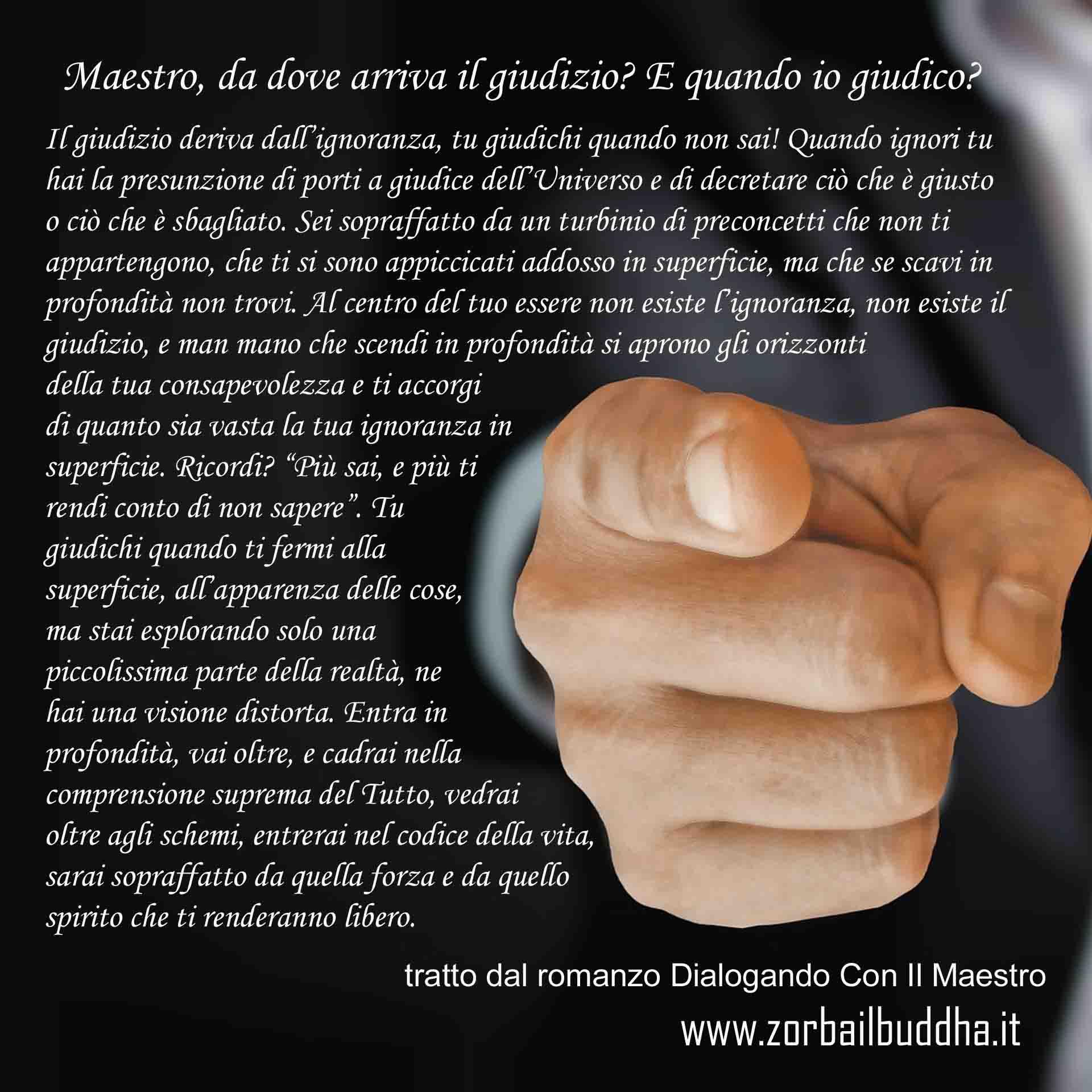 Il giudizio tratto dal romanzo Dialogando con il maestro di Vipal Antonio Gianfranco Gualdi
