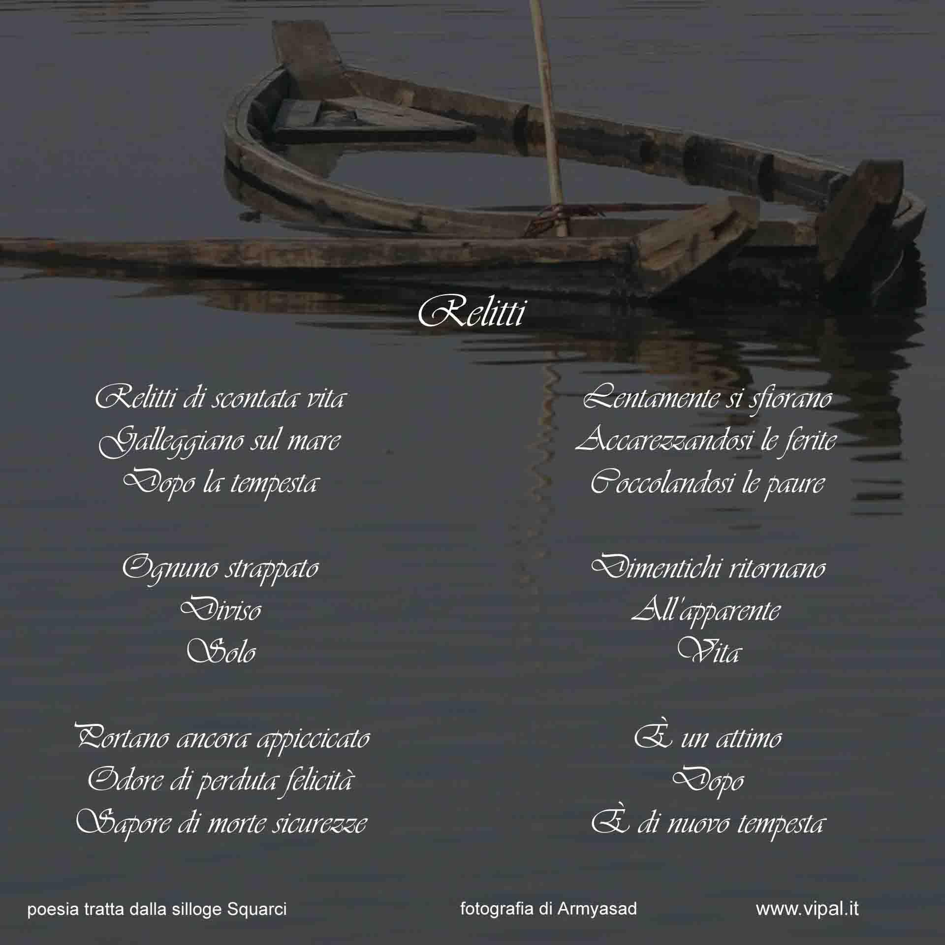 Relitti poesia edita nella silloge Squarci Vipal Antonio Gianfranco Gualdi