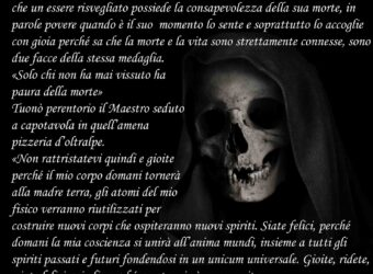 La paura della morte estratto dal romanzo Dialogando con il maestro